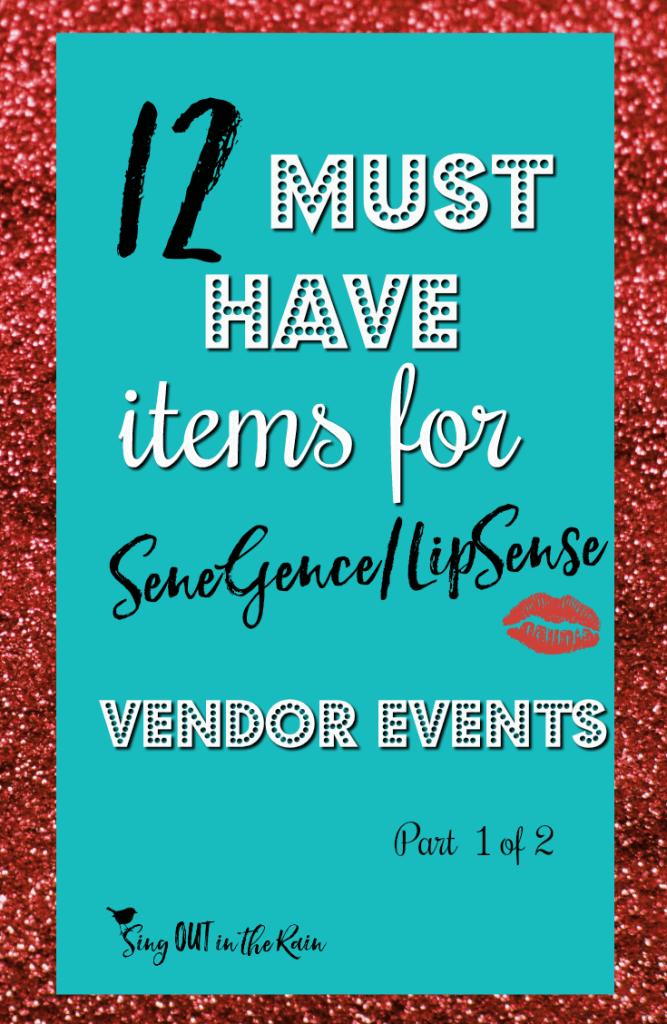 lipsense vendor events, lipsense vendor event checklist, senegence vendor events, senegence vendor event checklist