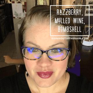 Razzberry LipSense, Mulled Wine LipSense, Bombshell LipSense, Lipsense Mixology