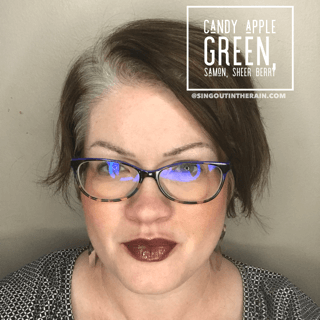 Candy Apple Green, Samon LipSense, Sheer Berry LipSense, LipSense Mixology