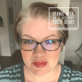 Orange Soda LipSense, Luv It LipSense, Razzberry LipSense, Sheer Berry LipSense