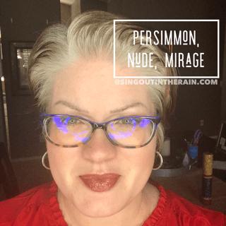 Persimmon LipSense, Nude LipSense, Mirage LipSense, LipSense Mixology