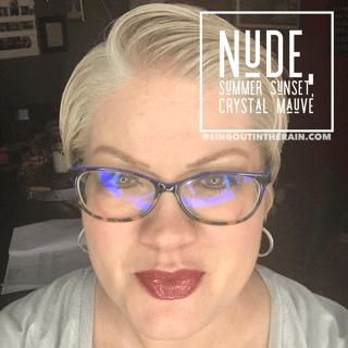 Nude LipSense, Summer Sunset LipSense, LipSense Mixology, Crystal Mauve LipSense