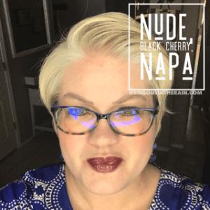 Nude LipSense, LipSense Mixology, Black Cherry LipSense, Napa LipSense