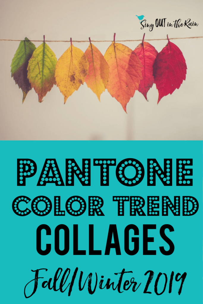 pantone color trend collages, pantone color palette collages