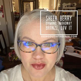 Sheer Berry Diamond LipSense, LipSense Mixology, Broadway Bronze LipSense, Luv It LipSense