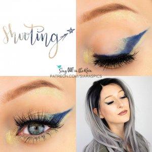 Shooting Star Eye Trio, Gold shimmer Eyeliner, Navy Eyeliner