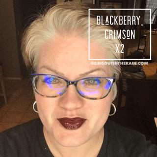 Blackberry LipSense, Crimson LipSense, LipSense Mixology