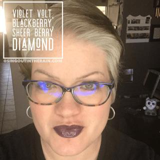 Violet Volt LipSense, Blackberry LipSense, LipSense Mixology, Sheer Berry Diamond LipSense