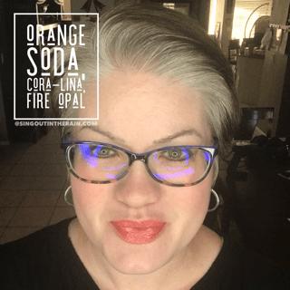 Orange Soda LipSense, Coral-Lina LipSense, Fire Opal LipSense, LipSense Mixology