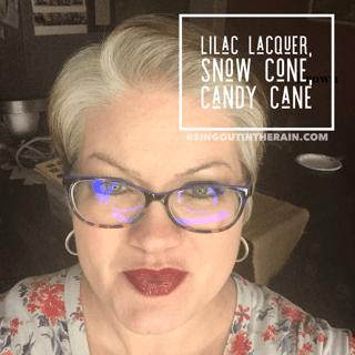 Lilac Lacquer LipSense, Snow Cone LipSense, Candy Cane LipSense, LipSense Mixology