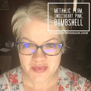 Metallic Plum LipSense, Sweetheart Pink LipSense, Bombshell LipSense, LipSense Mixology
