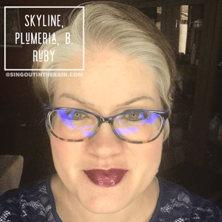 Skyline LipSense, Plumeria LipSense, B. Ruby LipSense, LipSense Mixology