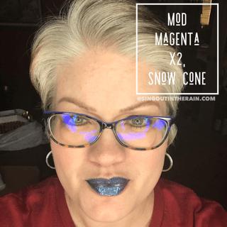 Snow Cone LipSense, Mod Magenta LipSense, LipSense Mixology