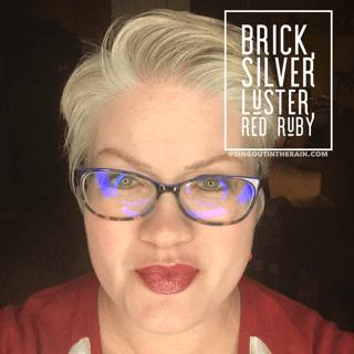 Brick LipSense, Silver Luster LipSense, Red Ruby LipSense, LipSense Mixology