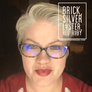 Brick LipSense, LipSense Mixology, Silver Luster LipSense, Red Ruby LipSense