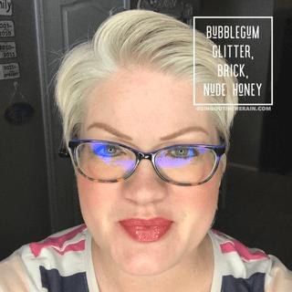 Bubblegum Glitter LipSense, Brick LipSense, LipSense Mixology, Nude Honey LipSense
