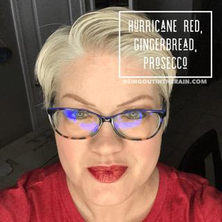 Hurricane Red LipSense, Gingerbread LipSense, LipSense Mixology, Prosecco LipSense