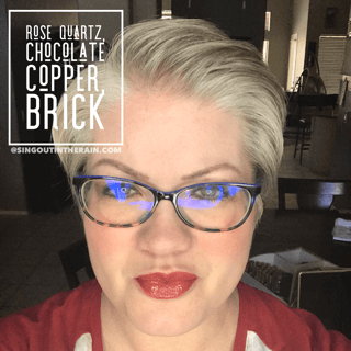 Rose Quartz LipSense, Chocolate Copper LipSense, Brick LipSense
