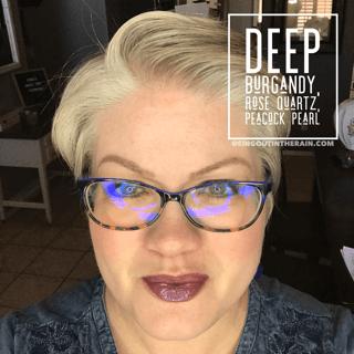 Deep Burgundy LipSense, Peacock Pearl LipSense, LipSense Mixology, Rose Quartz LipSense