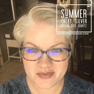 Summer Treat LipSense, LipSense Mixology, SIlver Luster LipSense, Rose Quartz LipSense