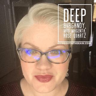 Deep Burgundy LipSense, LipSense Mixology, Mod Magenta LipSense, Rose Quartz LipSense