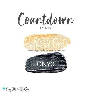 Countdown Eye Duo, Radiant Gold Glitter ShadowSense, Onyx ShadowSense