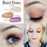 Desert Flower Eye Trio, Sandstone Pearl Shimmer Shadowsense, Rose Gold Glitter ShadowSense, Amethyst Shadowsense