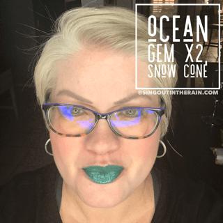 Ocean Gem LipSense, LipSense Mixology, Snow Cone LipSense