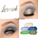 Limerick Eye Look, Sandstone Pearl Shimmer ShadowSense, Silver Shadowsense, Denim shadowsense, green shadowsense, Mystic Moss Shadowsense