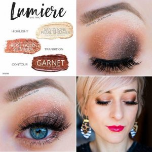 Lumiere Eye Trio, Garnet ShadowSense, Rose Gold Shimmer ShadowSense, Sandstone Pearl Shimmer, Shadowsense