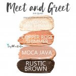 Meet and Greet Eye Quad, sandstone pearl shadowsense, copper rose shimmer shadowsense, moca java shadowsense, rustic brown shadowsense