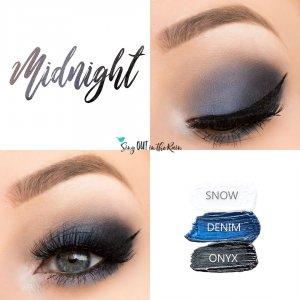 Midnight Eye Trio, Snow ShadowSense, Denim ShadowSense, Onyx ShadowSense