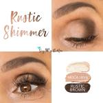 Rustic Shimmer Eye Trio, Sandstone Pearl Shimmer ShadowSense, Moca Java ShadowSense, Rustic Brown ShadowSense