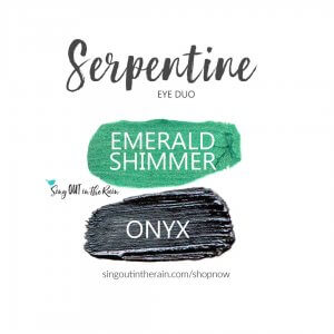 Serpentine Eye Duo, Emerald Shimmer Shadowsense, Onyx shadowsense