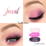 Social Eye Trio, Pink Frost ShadowSense, Pink Berry Blush, Deep Plum ShadowSense