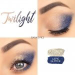 Twilight Eye Duo, Platinum Glitter Shadowsense, Lapis Glitter ShadowSense