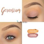 Geranium Eye Look, Peaches ShadowSense, Mauve Shimmer ShadowSense
