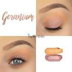 Geranium Eye Look, Peaches ShadowSense, Mauve Shimmer ShadowSense