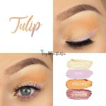 Tulip Eye Look, Buttercream Shimmer ShadowSense, Lilac Shadowsense, Peaches ShadowSense, Mauve Shimmer ShadowSense