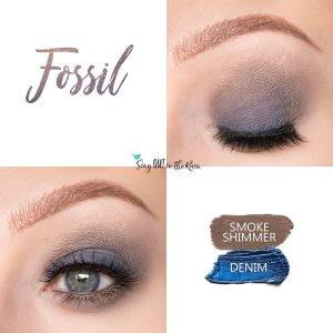 Fossil Eye Look, Denim ShadowSense, Smoke Shimmer ShadowSense