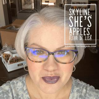 Skyline LipSense, LipSense mixology, She's Apples LipSense, Fleur de Lisa LipSense