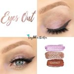 Eyes Out Eye Look, Candied Cocoa Shimmer Shadowsense, Garnet ShadowSense, Lavender Shimmer ShadowSense