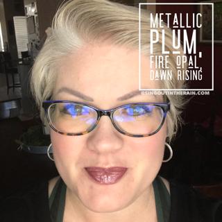 Metallic Plum LipSense, Fire Opal LipSense, Dawn Rising LipSense