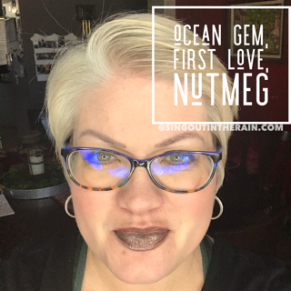 Ocean Gem LipSense, First Love LipSense, Nutmeg LipSense, LipSense Mixology