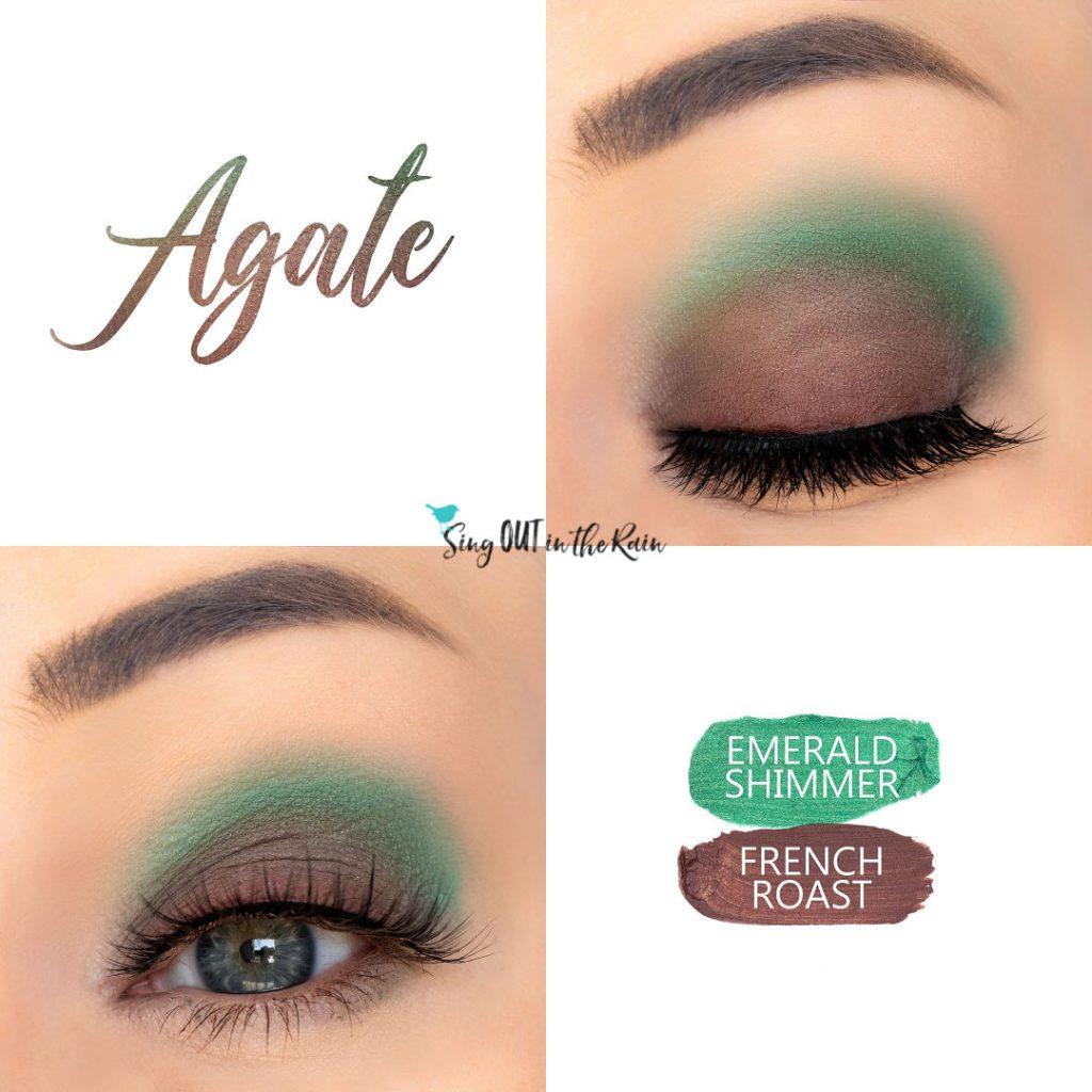 Agate Eye Duo, Emerald Shimmer ShadowSense, French Roast ShadowSense