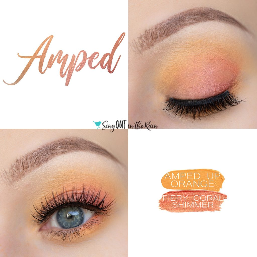 Amped Eye Duo, Amped Up Orange ShadowSense, Fiery Coral Shimmer ShadowSense