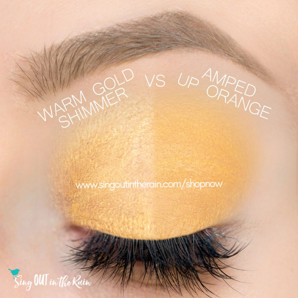 Warm Gold Shimmer ShadowSense, Amped Up Orange ShadowSense