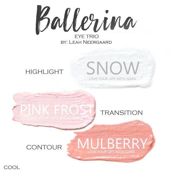 Ballerina Eye Trio, Snow ShadowSense, Pink Frost ShadowSense, Mulberry ShadowSense