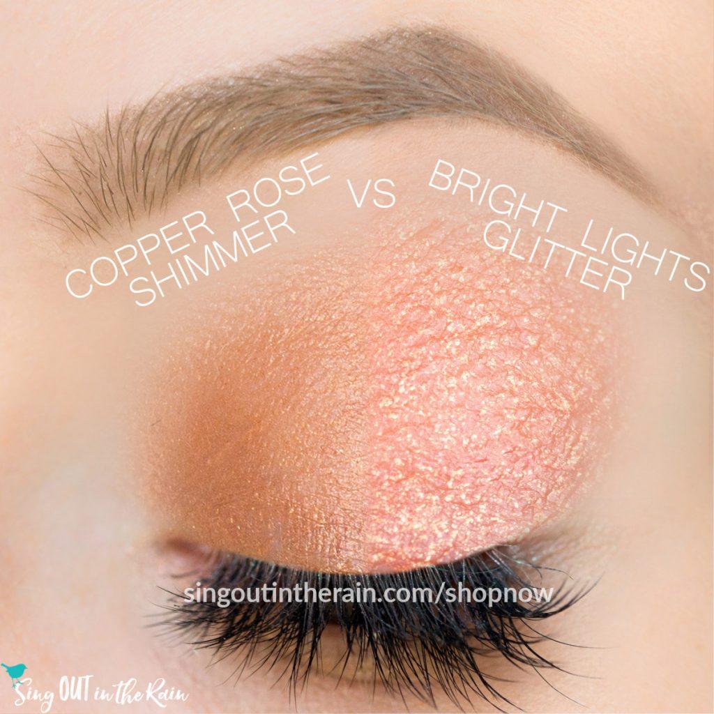 Bright Lights Glitter ShadowSense, Copper Rose Shimmer ShadowSense