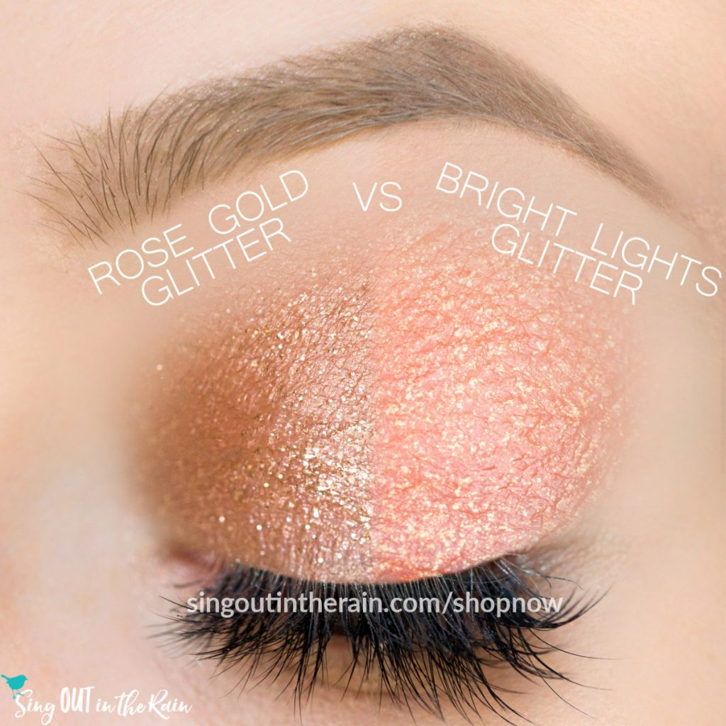 Rose Gold Glitter ShadowSense, Bright Lights Glitter ShadowSense